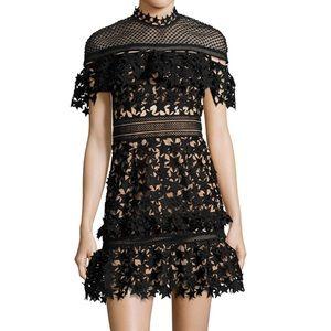 New, Self-Portrait Yoke Frill Star Dress, 40%off